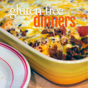 Gluten Free Dinner (Main Dish) Recipes Using a Homemade Gluten Free Baking Mix