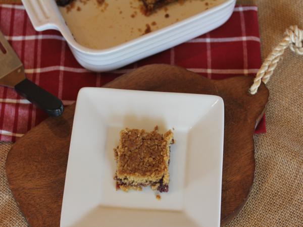 Raspberry Jam Bars with Gluten Free Baking Mix