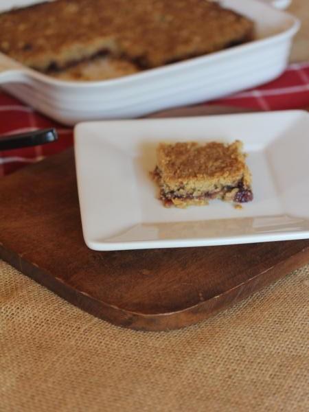 Raspberry Jam Bars with Gluten Free Baking Mix_