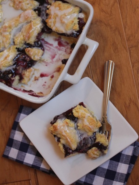 Gluten Free Blueberry Swirl Coffee Cake-