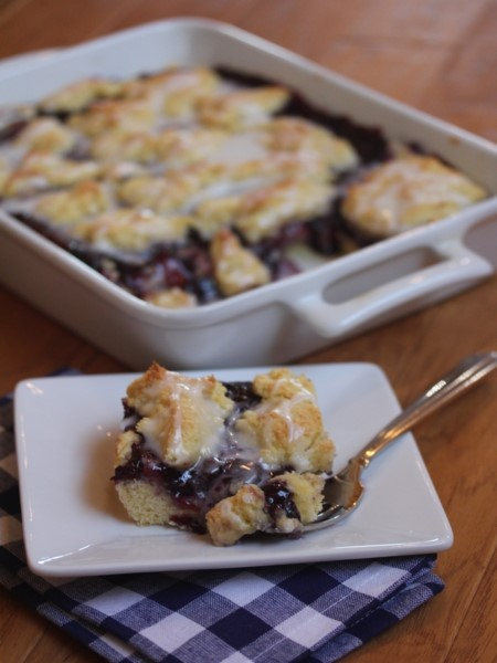 Gluten Free Blueberry Swirl Coffee Cake--